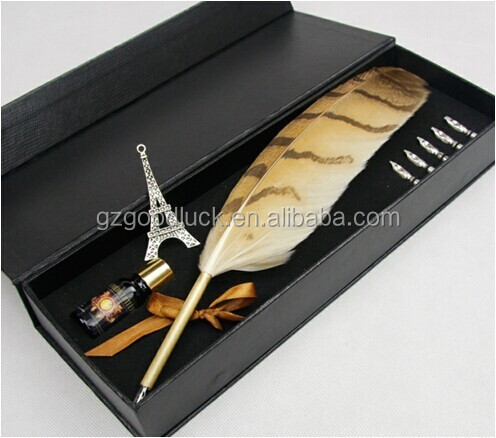Turkey natural feather pen delicate feather calligraphy pen