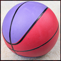 glossy natural rubber branded basketball for training