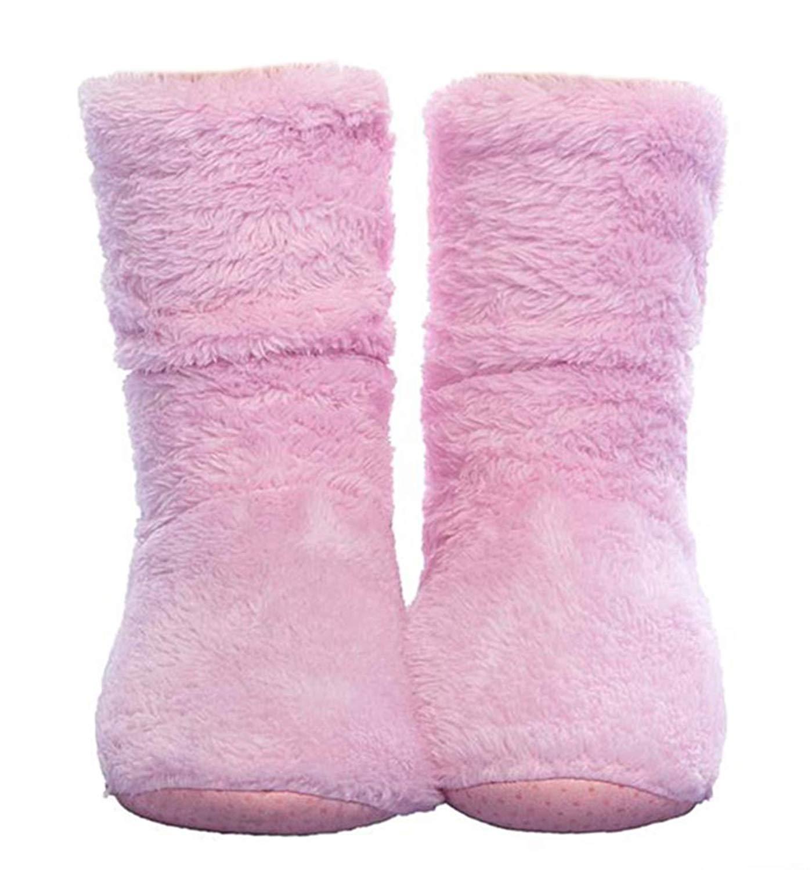 FRALOSHA Women's Slipper Sock Coral Velvet Indoor Spring-Autumn Super Soft Warm Cozy Fuzzy Lined Slipper Socks