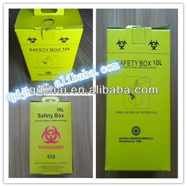 new prduct made in china alibaba website Medical equipment portable cardboard Safety box
