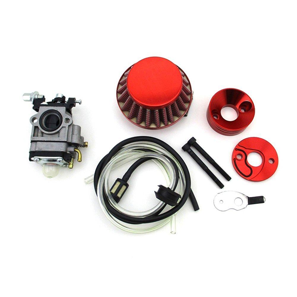Get Quotations · TC-Motor Red Racing 15mm Carburetor + Air Filter + Adapter  Vstack + Fuel Hose