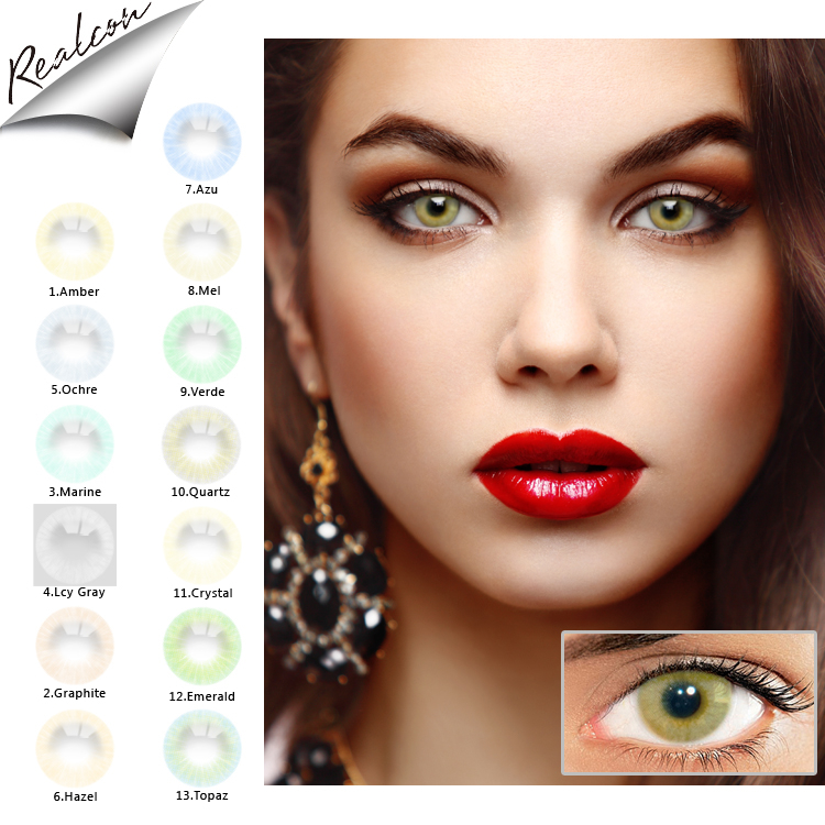 Hot Selling natural color contact lens super natural 13 colors contact lenses natural color lentes de contacto