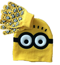 Dětská zimná súprava – Mimoni rukavice a čiapka z Aliexpress