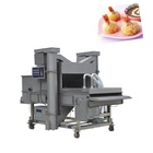 Professional fish patty burger batter covering machine meat breading machine