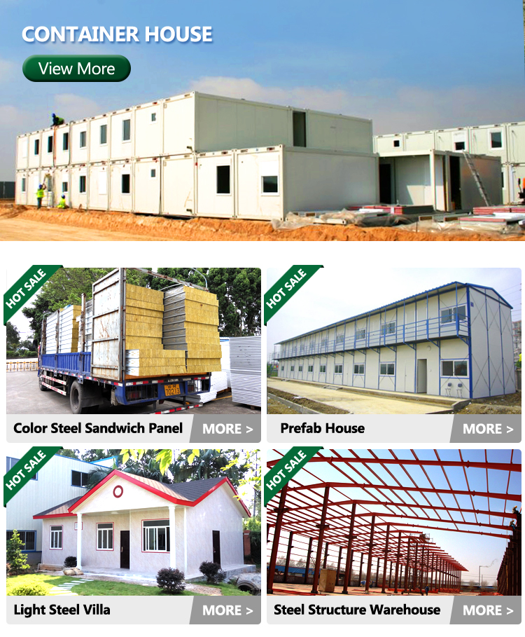 Factory Direct Sale Flat Pack Container House For Office Dormitory Store Canteen