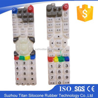 Silicone Rubber Keypad with Silicone Keypad Switch Assembly Parts Mobile Silicon Keypad Parts