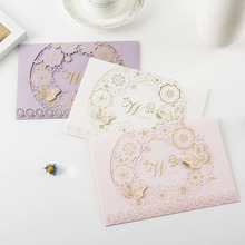 3D butterfly with gold stamping laser cut wedding invitations hot sale wedding cards invitation