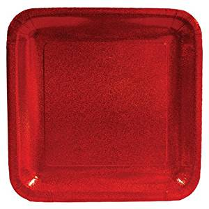 Get Quotations · Glitz Red Prismatic Square Paper Dinner Plates 8ct & Cheap Square Red Charger Plates find Square Red Charger Plates ...