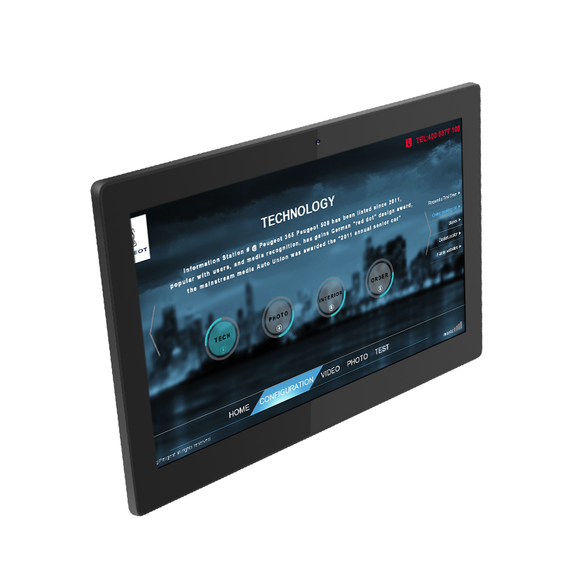 Android7 systeem 10 inch industriële touch screen robuuste tablet pc voor conferentievergadering