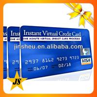 credit cards bank pvc/ virtual credit card