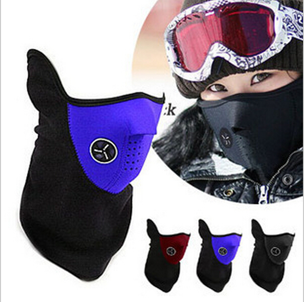 Sport Half Face Mask Winter Warm Outdoor Ski Mask Ride Bike Cap CS Mask Neoprene Bicycle Cycling Motorcycle Snowboard Neck Veil