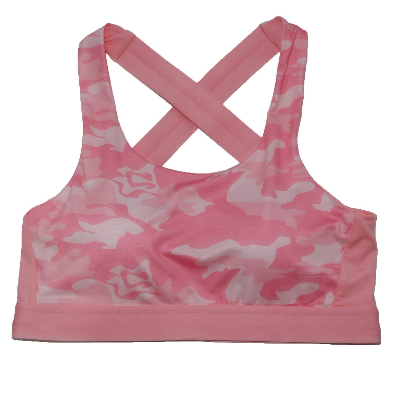35440552e3 Get Quotations · Freezing camouflage sports underwear shock-proof running  gym vest yoga bra