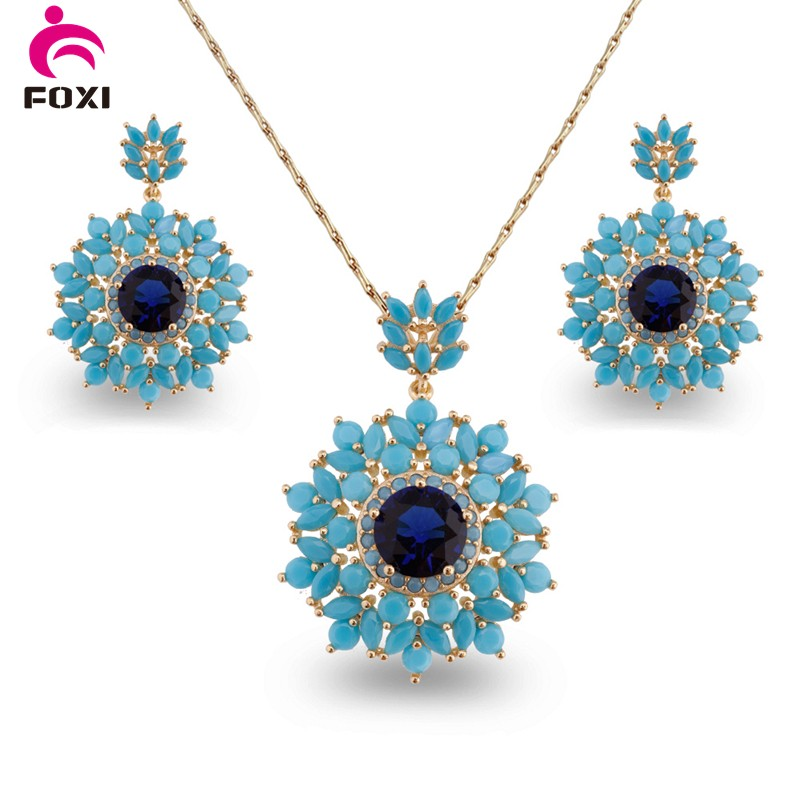 Hot fashion gold plating indian diamond jewelry sets necklace