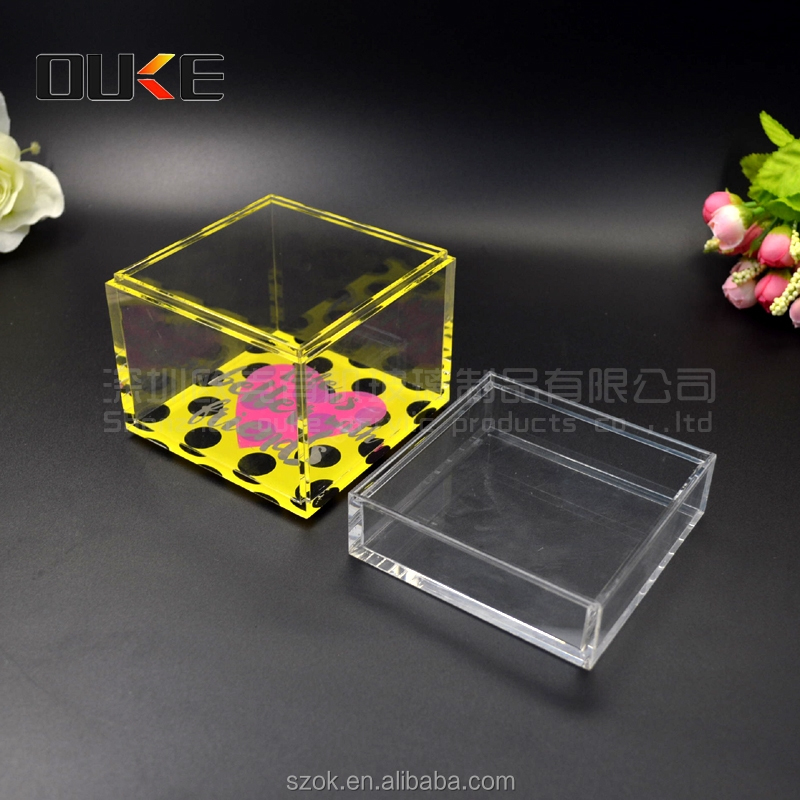 Promotional cheap craft 4*4 empty acrylic gift boxes for sale
