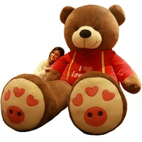 custom made 300cm giant teddy bear plush toy 3m big plush toy