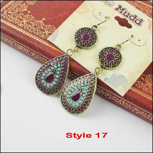 PDRE-DJ078,וינטאג', עגילים עגילי אופנה הצהרה תכשיטים הסיטוניים .