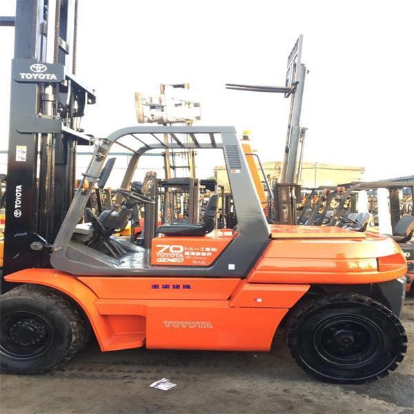 good condition forklift toyota 7 tons Japan original for sale at low price
