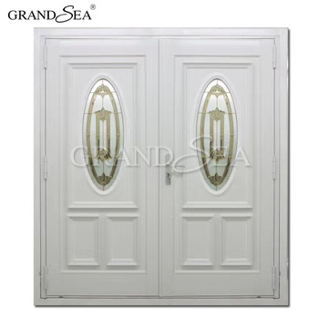 Commercial Used Laminated Double Glass Doors For Sale European Style