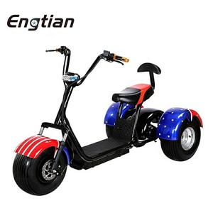 China Supplier 1000w Electric Scooter Price 3 Wheel Electric Passenger Tricycle