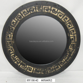 wall hanging round wood carved mirror frame buy antique wood