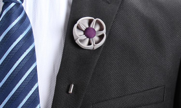 Großhandel Pins Blume Brosche Herren Stoff Handwerk