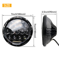 "New Arrival DOT ECE SAE 12V 24V Automobiles Round 7"" led Headlight for jeep"