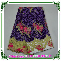 Wholesale Wax Lace Ankara African Holland Wax with Guipure Lace Fabric
