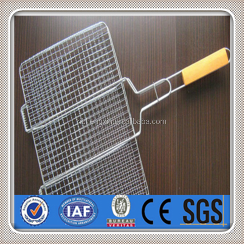 Round panel galvanized disposable bbq grill wire mesh