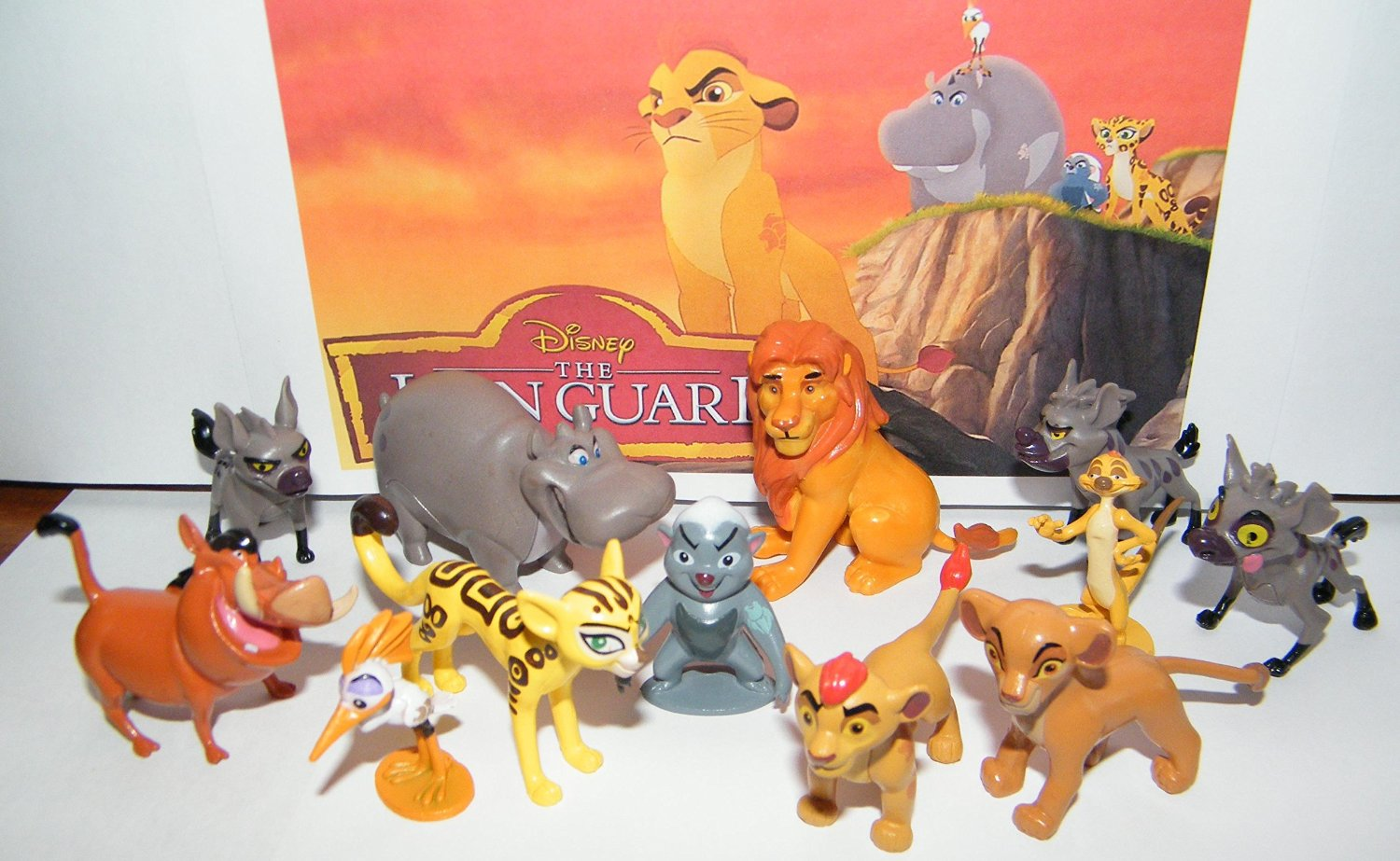 Disney The Lion Guard Deluxe Party Favors Goody Bag Fillers Set of 13 Figures with the 5 Lion Guard Figures, Princess Kiara, King Simba, Pumon, Simon and More!