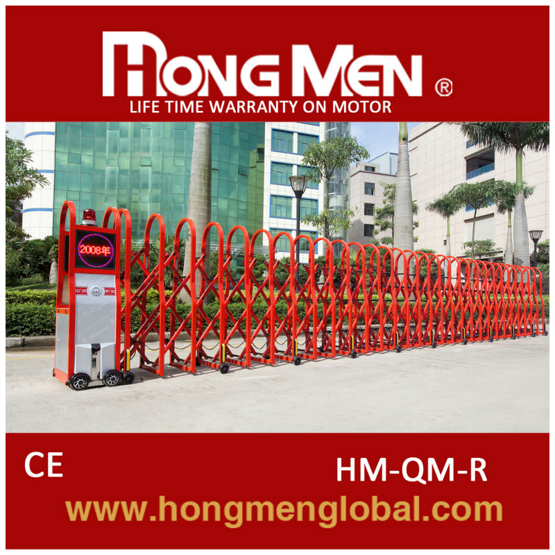 automatic remote control steel folding main gates from China