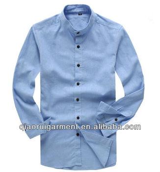 Linnen Overhemd Heren Lange Mouw.Zachte Gewassen Lichtblauw Casual Heren Lange Mouw Linnen Overhemd