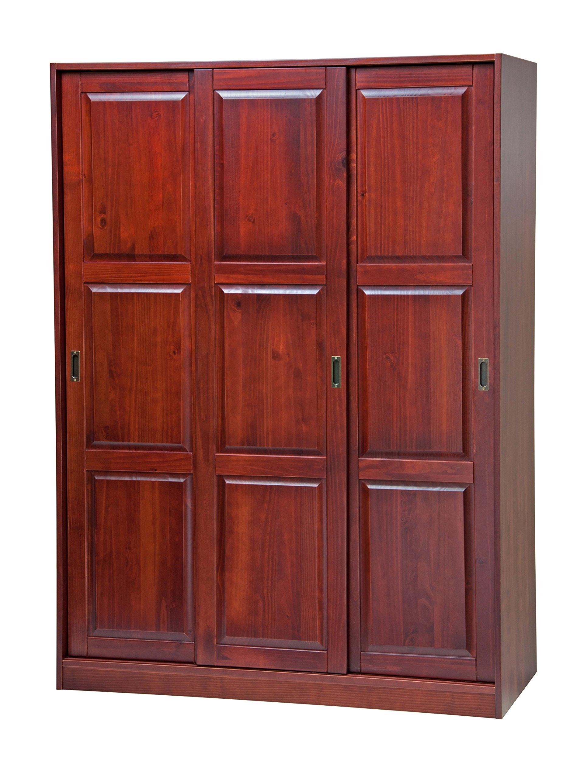 Buy 100 Solid Wood 3 Sliding Door Wardrobe Armoire Closet