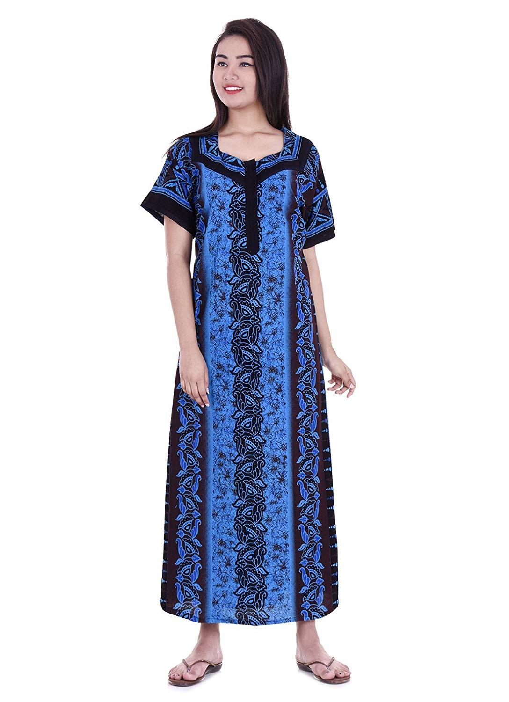 e98ebd0445 APRATIM Womens Nighty Nightwear Gown Cotton Maxi Dress Sleepwear Nightgown  Bikini Cover Beachwear