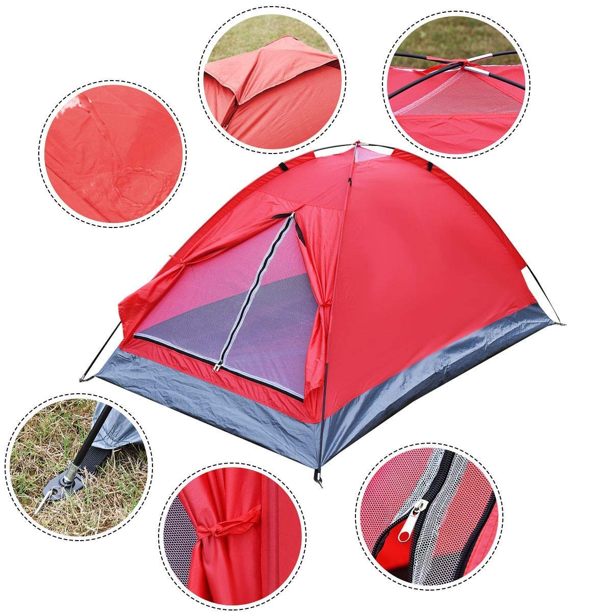Get Quotations · BeUniqueToday Waterproof 2 Person C&ing Tent w/ 1 Door 100% New and Excellent  sc 1 st  Alibaba & Cheap Eureka 2 Person Tent find Eureka 2 Person Tent deals on line ...
