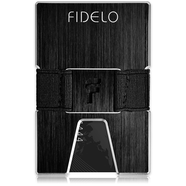 6c7d06f9a6f1 Minimalist Wallet Credit Card Holder - FIDELO Front Pocket Slim Wallet with  2 Money Clip Cash