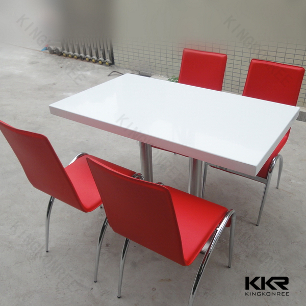 Easy Clean Resin Marble Restaurant Table Tops