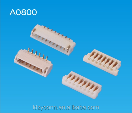 UL approved 0.8mm pitch 2 3 4 5 poles ways pin wire to board IDC electric connectors replaces JST SUR
