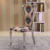Hot sale hotel wedding chair 201 stainless steel dining table chair