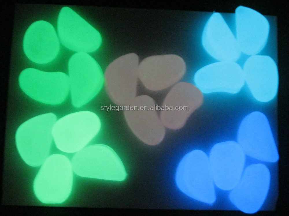 Landscape decorations aquarium garten jardin garden luminous rocks glow in the dark pebbles stones