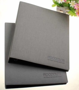 Executive Black A4 Conference Folder, Pu Leather Zipped Portfolio 4 Ring Binder With Clip, 4 Ring Binder