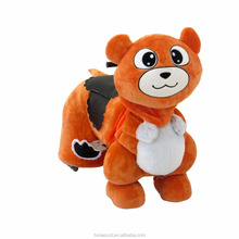 HI CE competitive plush animal electric scooter ride on walking toy animals for kids