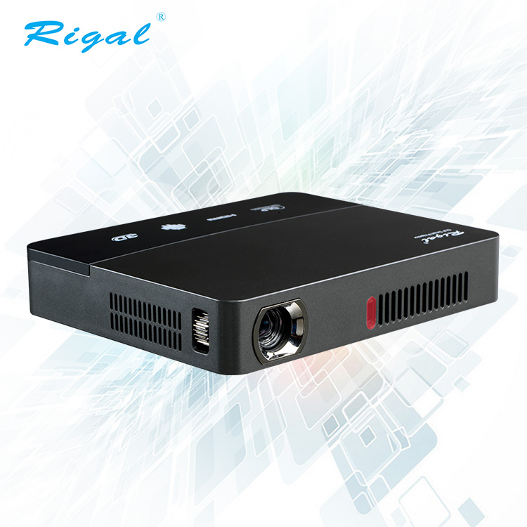Digitale 3d draagbare android systeem led projector dlp hd smart mini dlp-projector