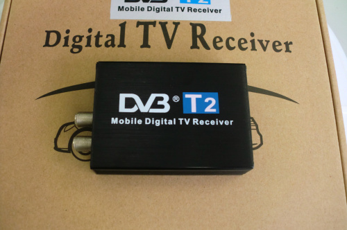 Car DVB T2 120km/h Double Antenna H.264 MPEG4 Mobile Digital TV Box External USB DVB-T2 Car TV Receiver Free shipping