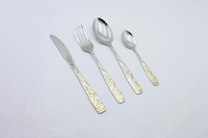 LY J007 Stainless Steel Arabic Golden Cultery Set