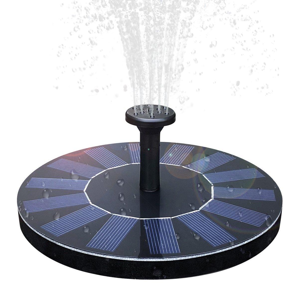 SENLUO Solar Fountain,Solar Powered Bird Bath Fountain Pump 1.4W Solar Panel Kit Water Pump,Outdoor Watering Submersible Pump for Fish Tank,Garden,Pool,Pond,Aquarium