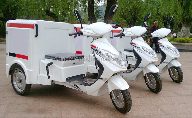 3 wheel small motorcycle Electric Insulation delivery food vehicle