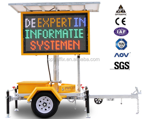 OPTRAFFIC Solar Power Outdoor Led Road Moving Variable Message Display Mobile Traffic Signs Vms Trailer