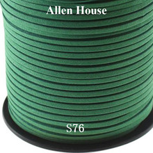 Amazon Ebay Hot Sale Jewelry Findings & Components Dark Green Suede leather strap 3.0mm Velvet imitation leather cord
