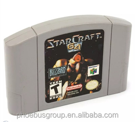 NTSC/USA version Video Game Cartridge for Nintendo 64 StarCraft 64 N64