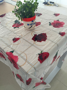 Dining Table Cover For Sale Plastic Clear Printed Table Cloth Table Cover